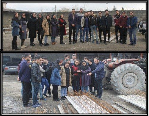 🔰 بازدید علمی دانشجویان از کارخانه خرپاسازی در لیماک رامسر